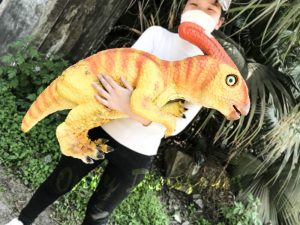 Baby Dinosaur Puppet Parasaurolophus for Baby