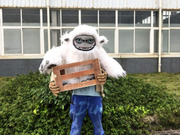 Baby Yeti Puppet in Crate4