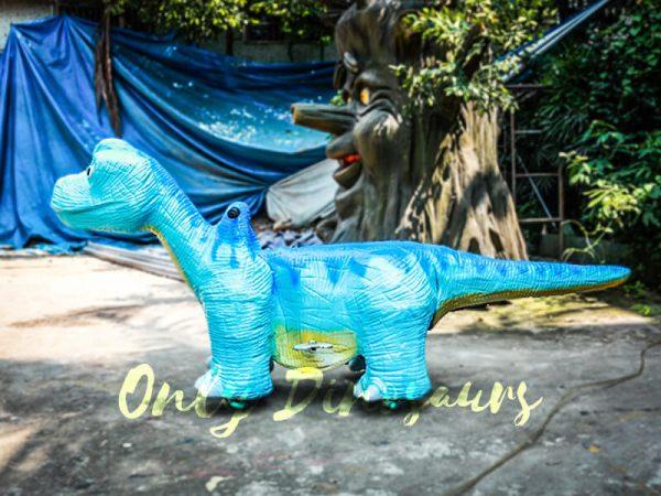 Blue Brachiosaurus Dinosaur Running Ride3
