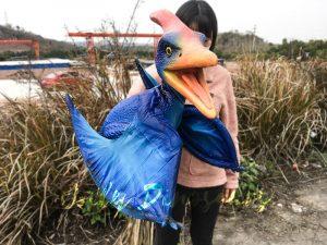 Blue Pterosaur Baby Girl Puppet
