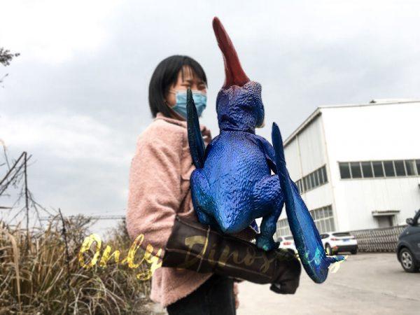 Blue Pterosaur Baby Girl Puppet3