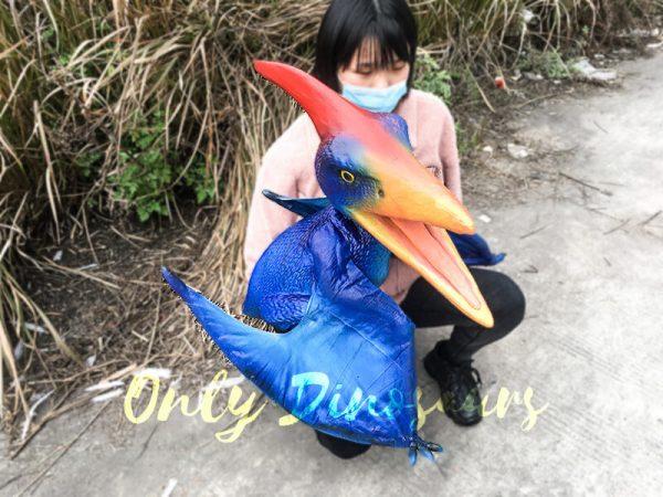 Blue Pterosaur Baby Girl Puppet5