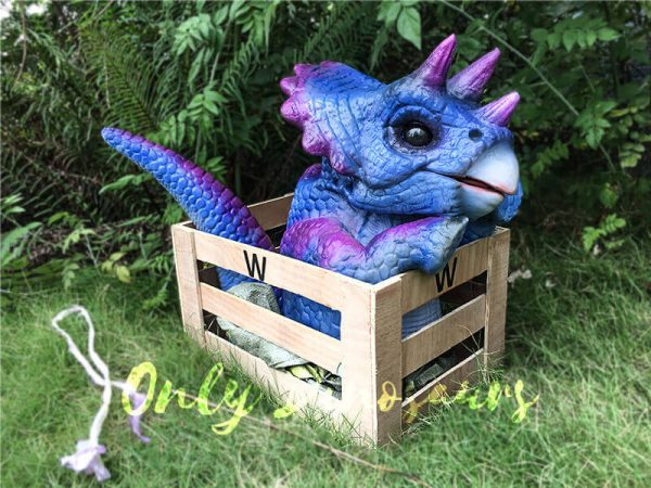 Blue Purple Crated Triceratops Puppet3