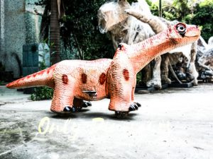 Cute Brontosaurus Dino Rider for Playground