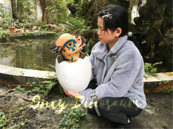 Cute Gift Dinosaur Puppet in Eggshel8