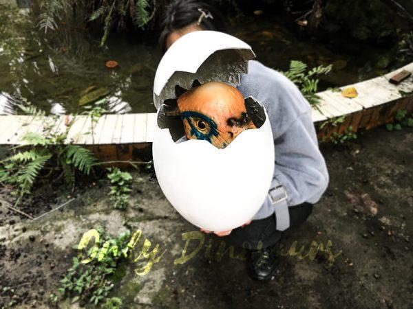 Cute Gift Dinosaur Puppet in Eggshell3