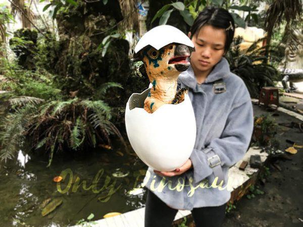Cute Gift Dinosaur Puppet in Eggshell4