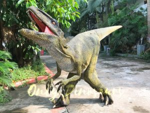 Dinosaur Costume Real Raptor in green