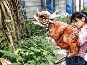 Adorable Dinosaur Stygimoloch Puppet Fake Hand