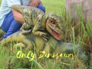 Green Baby Raptor Mini Puppet for Kids