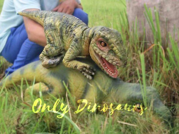 Green Baby Raptor Mini Puppet for Kids1