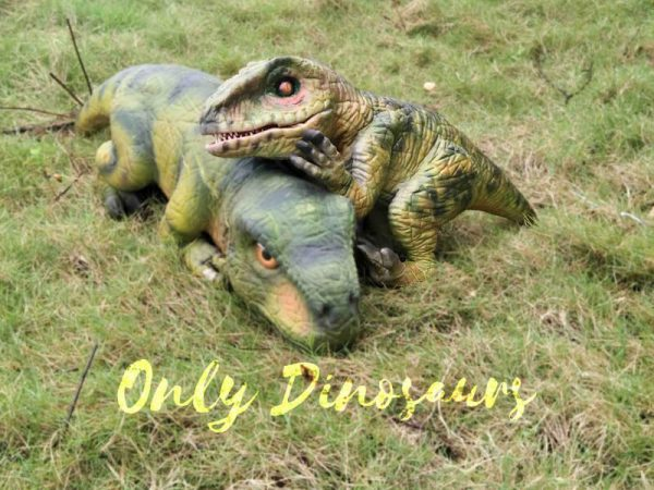 Green Baby Raptor Mini Puppet for Kids4