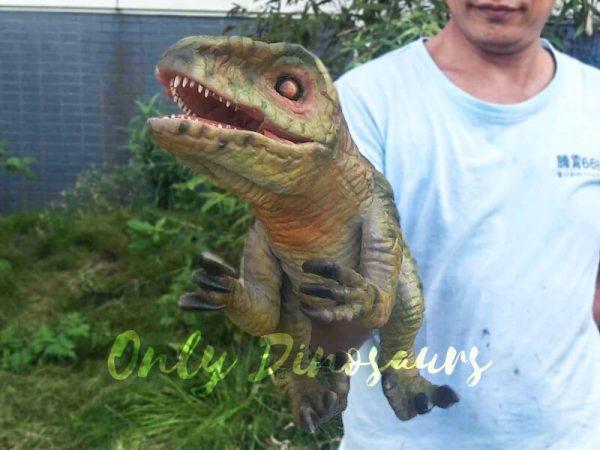 Green Baby Raptor Mini Puppet for Kids8