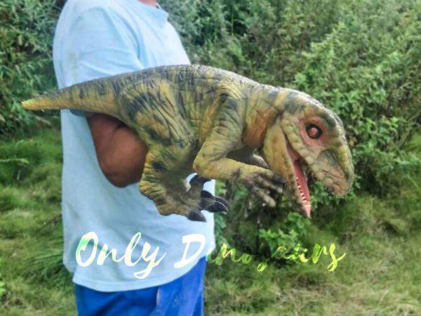 Green Baby Raptor Mini Puppet for Kids9