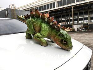 Green Dinosaur Puppet Cute Stegosaurus