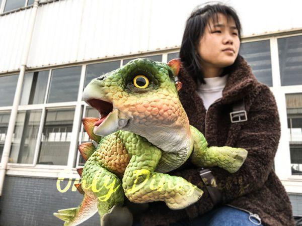 Green Dinosaur Puppet Cute Stegosaurus 2