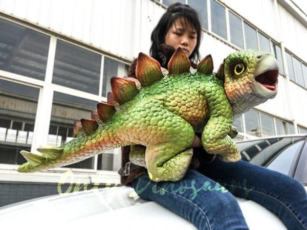 Green Dinosaur Puppet Cute Stegosaurus 3