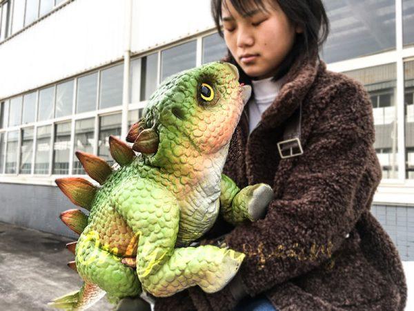 Green Dinosaur Puppet Cute Stegosaurus 4