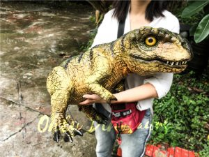 Green Jurassic World T rex Puppet