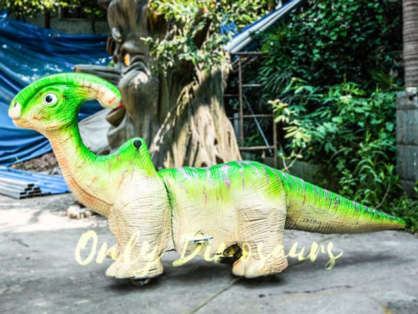 Green Parasaurolohus Cute Dinosaur Rides3