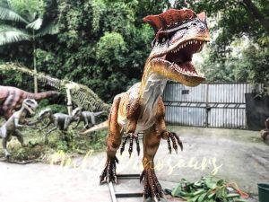 Horror Animatronics Dilophosaurus for Jurassic Adventure