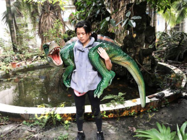 Impressive Spinosaurus Shoulder Puppet Vivid Green3