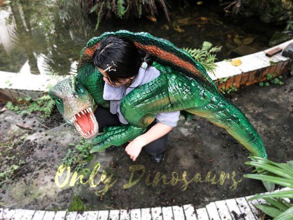 Impressive Spinosaurus Shoulder Puppet Vivid Green5