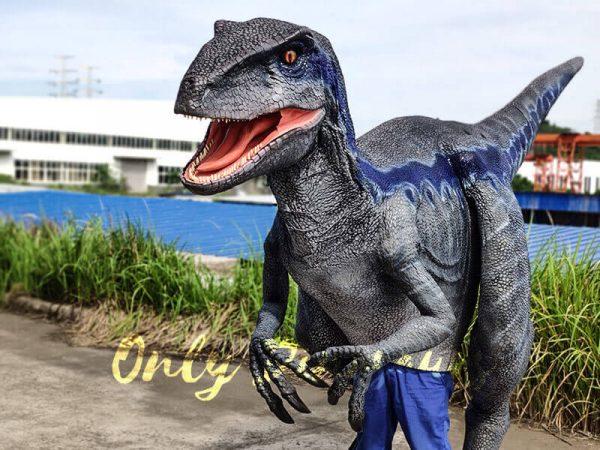 Jurassic Park Velociraptor Costume Lifelike Blue1