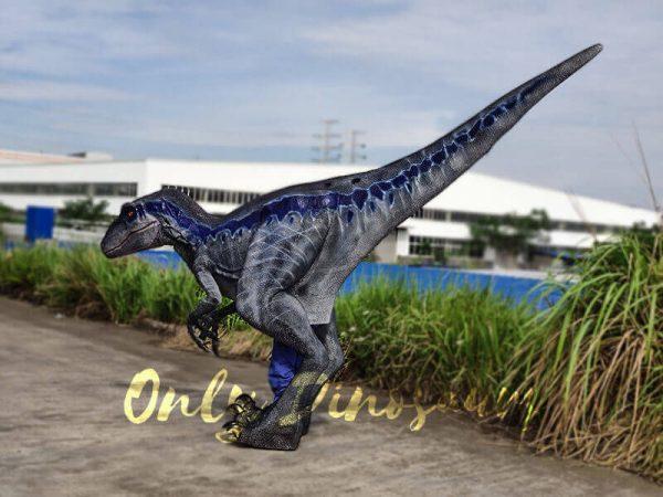 Jurassic Park Velociraptor Costume Lifelike Blue3