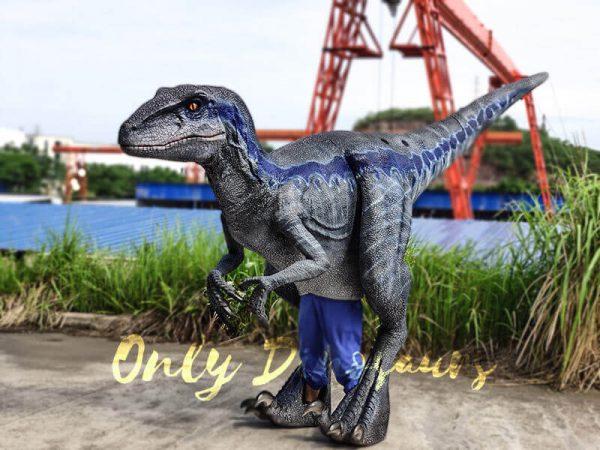 Jurassic Park Velociraptor Costume Lifelike Blue4