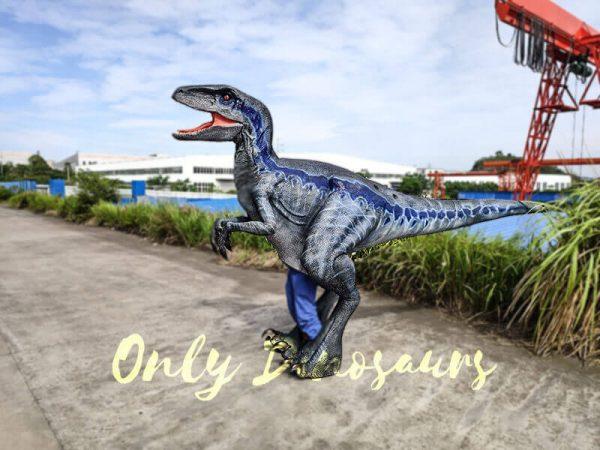 Jurassic Park Velociraptor Costume Lifelike Blue5