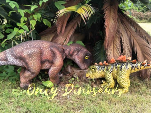 Kid Stegosaurus Dino Puppets in Stage Show5