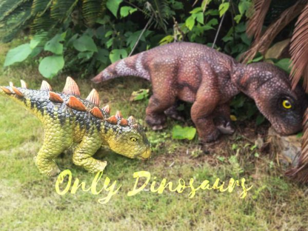 Kid Stegosaurus Dino Puppets in Stage Show6