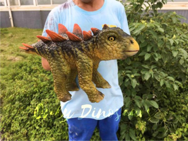Kid Stegosaurus Dino Puppets in Stage Show8