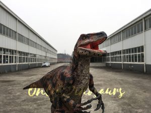 Light weight Dinosaur Raptor Costume in red