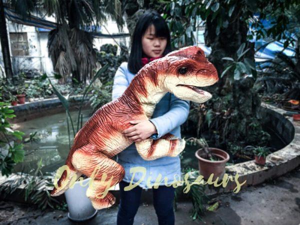 Likable Baby Dinosaur Brachiosaurus Puppet Red2