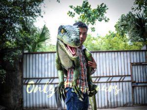 Living Puppet Raptor in Vivid Green