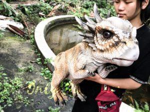 Lovely Stygimoloch Realistic Puppet Baby Dinosaur
