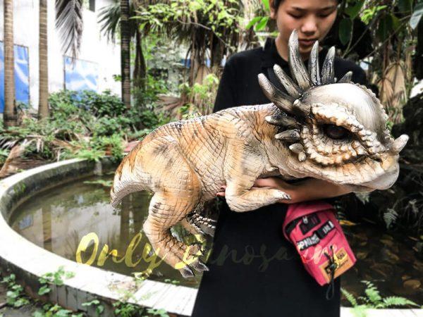 Lovely Stygimoloch Realistic Puppet Baby Dinosaur2