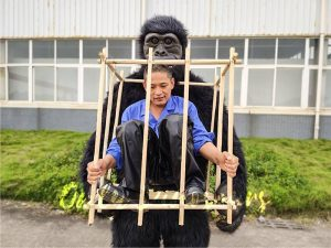 Man in a King Kong Cage Costume1