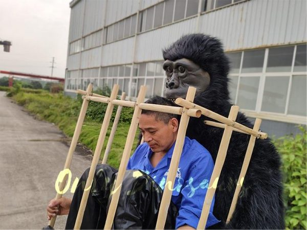 Man in a King Kong Cage Costume2