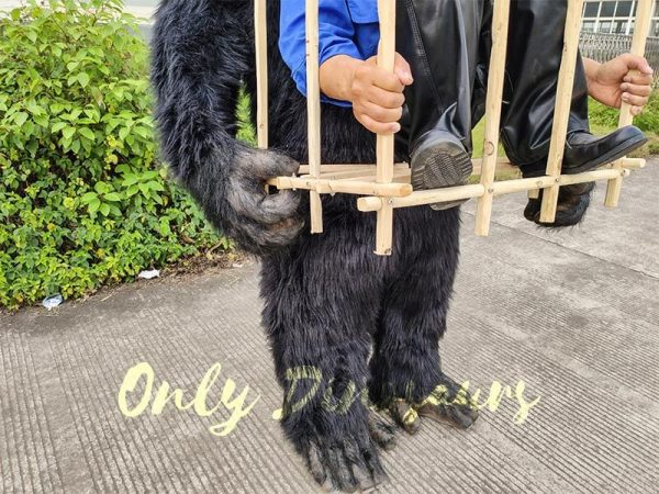 Man in a King Kong Cage Costume3