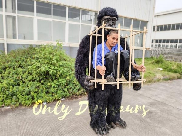 Man in a King Kong Cage Costume4