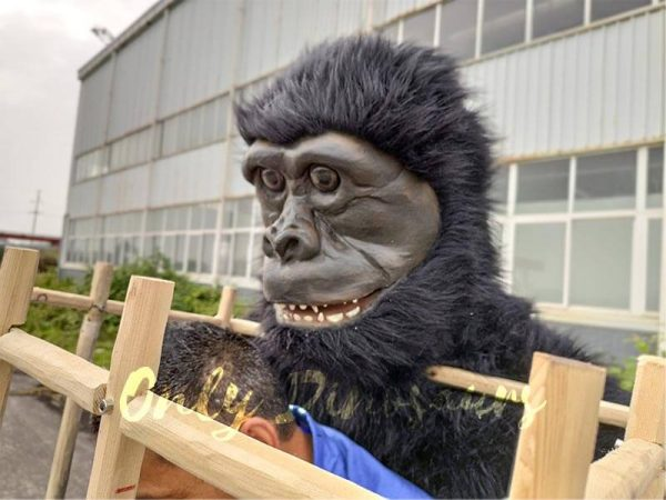 Man in a King Kong Cage Costume5