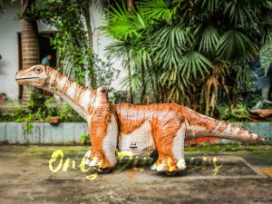 Orange Brontosaurus Dinosaur Kiddie Ride