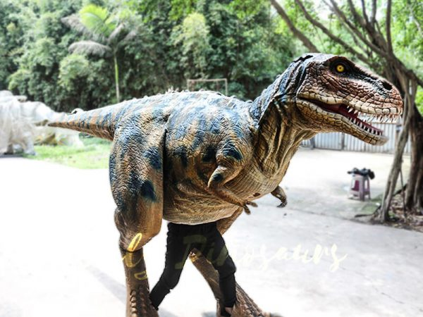 Professional T Rex Walking Costume Visible legs1