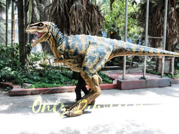 Professional T Rex Walking Costume Visible legs2
