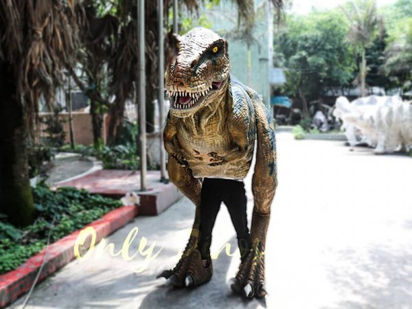 Professional T Rex Walking Costume Visible legs3