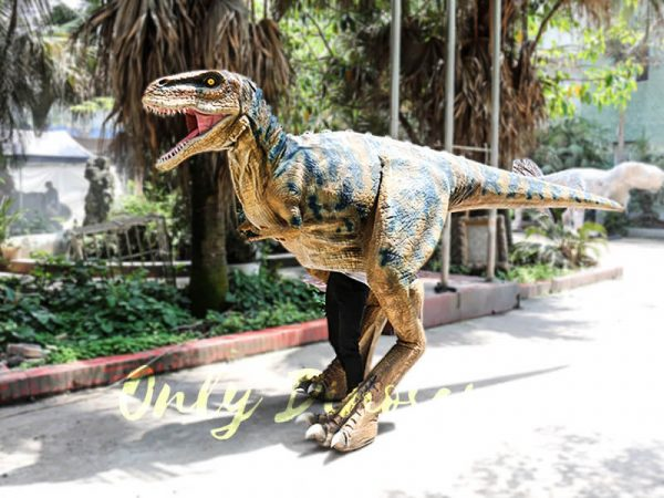 Professional T Rex Walking Costume Visible legs4