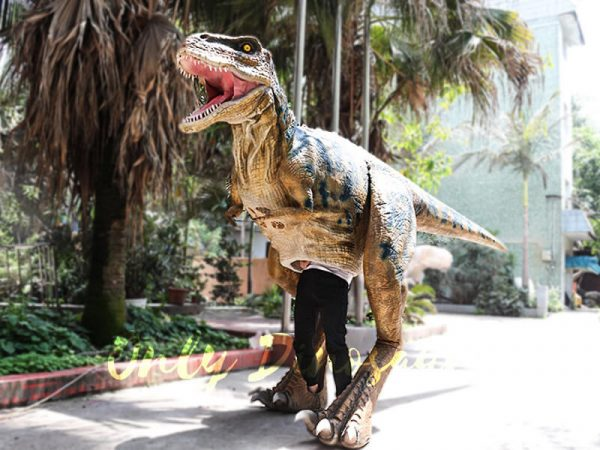 Professional T Rex Walking Costume Visible legs5